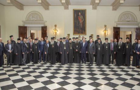 Tradicionalni ručak na Belom dvoru u čast redovnog godišnjeg zasedanja Svetog Arhijerejskog Sabora SPC