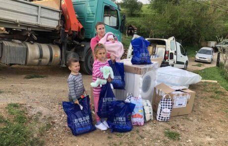Donation for family in Straza