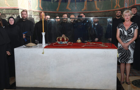 Royal regalia in the church of St. George in Oplenac