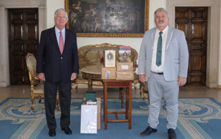 THE MEETING WITH THE DIRECTOR OF THE ARCHIVE OF VOJVODINA AT THE ROYAL PALACE